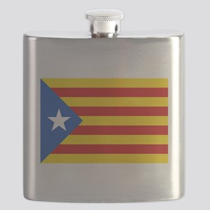 LEstelada Blava Catalan Independence Flag Flask