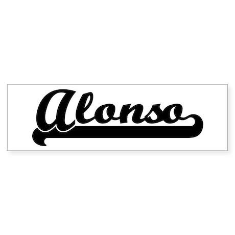 Black jersey: Alonso Bumper Sticker