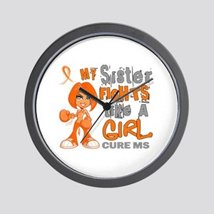 Fights Like a Girl 42.9 MS Wall Clock