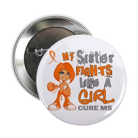 """Fights Like a Girl 42.9 MS 2.25"""" Button (100 pack)"""