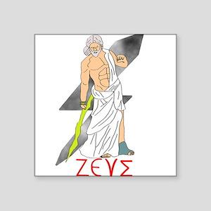 "Zeus Square Sticker 3"" x 3"""