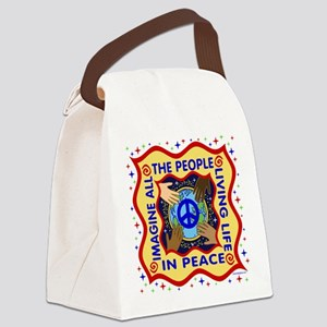 Hands of Peace Canvas Lunch Bag