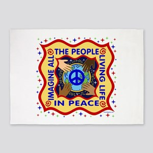 Hands of Peace 5'x7'Area Rug