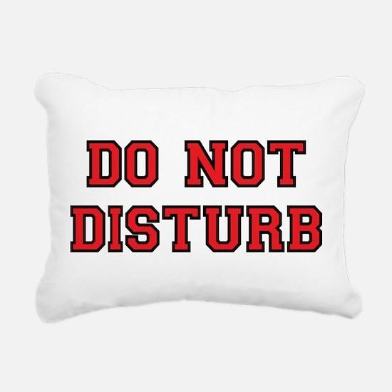Do Not Disturb Rectangular Canvas Pillow