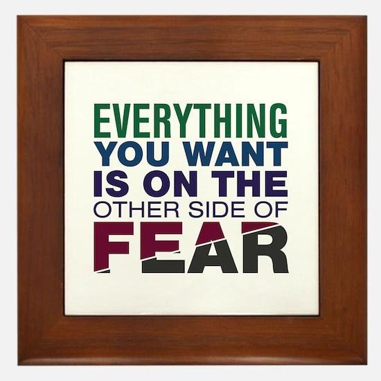 Other Side of Fear Framed Tile