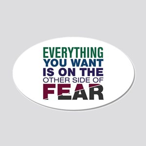 Other Side of Fear 20x12 Oval Wall Decal