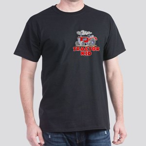Red Tractor Kid Dark T-Shirt