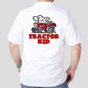 Red Tractor Kid Golf Shirt