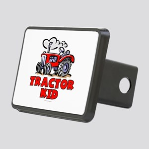 Red Tractor Kid Rectangular Hitch Cover