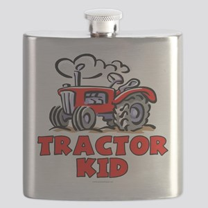 Red Tractor Kid Flask