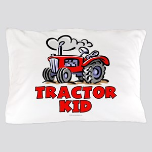 Red Tractor Kid Pillow Case