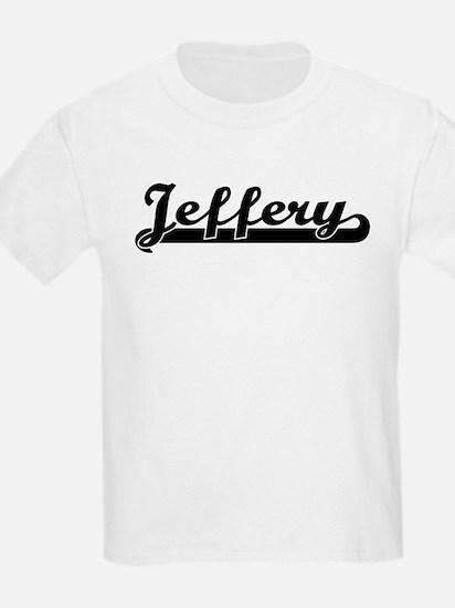 Black jersey: Jeffery Kids T-Shirt