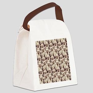 Pugs Everywhere Canvas Lunch Bag