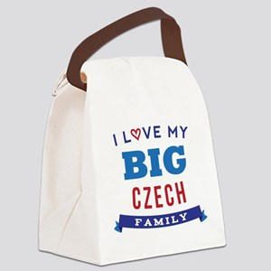 I Love My Big Czech Family Canvas Lunch Bag