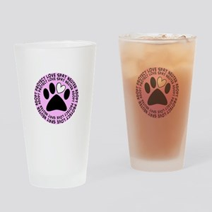 Spay neuter BIGGER PINK Drinking Glass