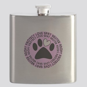 Spay neuter BIGGER PINK Flask