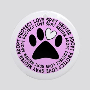 Spay neuter BIGGER PINK Ornament (Round)