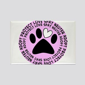 Spay neuter BIGGER PINK Rectangle Magnet
