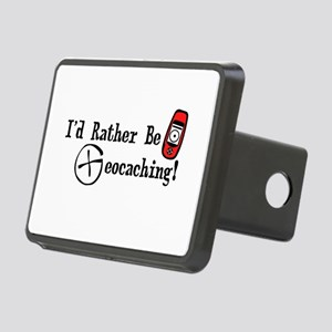 Rather Be Geocaching Rectangular Hitch Cover