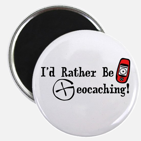 """Rather Be Geocaching 2.25"""" Magnet (100 pack)"""