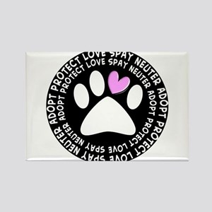 spay neuter adopt BLACK OVAL Rectangle Magnet