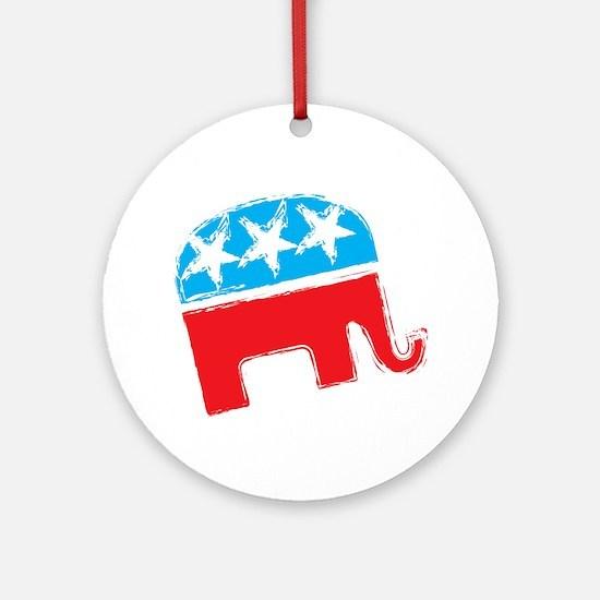 Republican Elephant Ornament (Round)