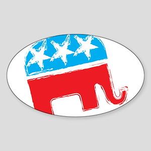 Republican Elephant Sticker (Oval)