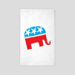 Republican Elephant 3'x5' Area Rug