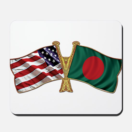 Bangladesh-American Friend Ship Flag Mousepad