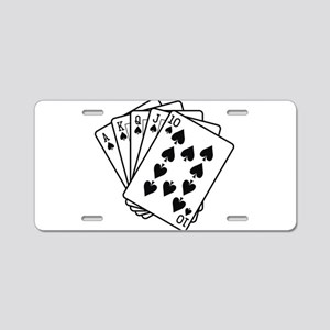 Royal Flush Aluminum License Plate
