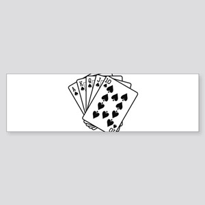 Royal Flush Sticker (Bumper)