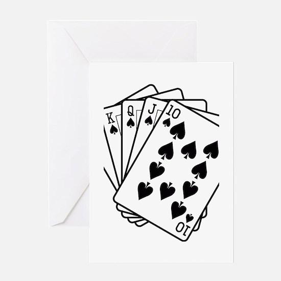 Royal Flush Greeting Card