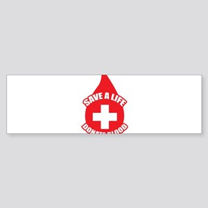 Save a Life, Donate Blood Sticker (Bumper)
