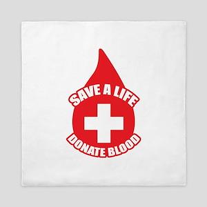 Save a Life, Donate Blood Queen Duvet