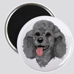 Gray Poodle Magnet