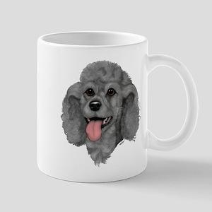 Gray Poodle Mug