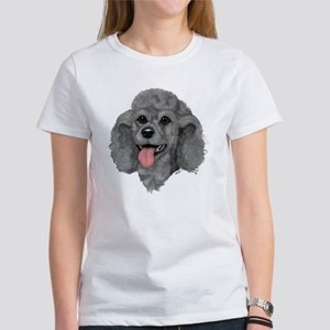 Gray Poodle Women's T-Shirt