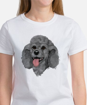 Gray Poodle Women's T-Shirt