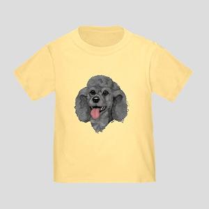 Gray Poodle Toddler T-Shirt