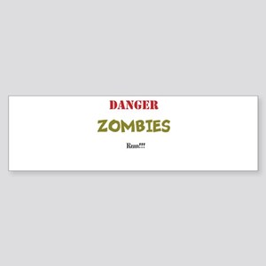 Zombie danger Sticker (Bumper)