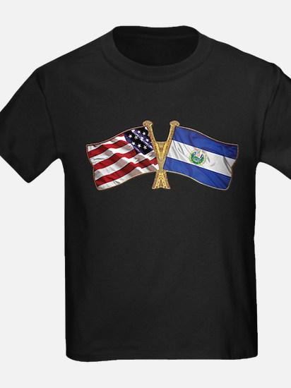 El-Salvador America Friend ship flag. T