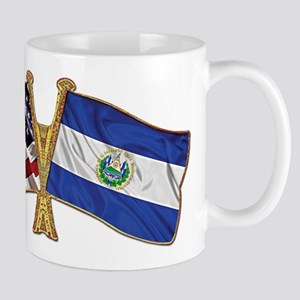 El-Salvador America Friend ship flag. Mug
