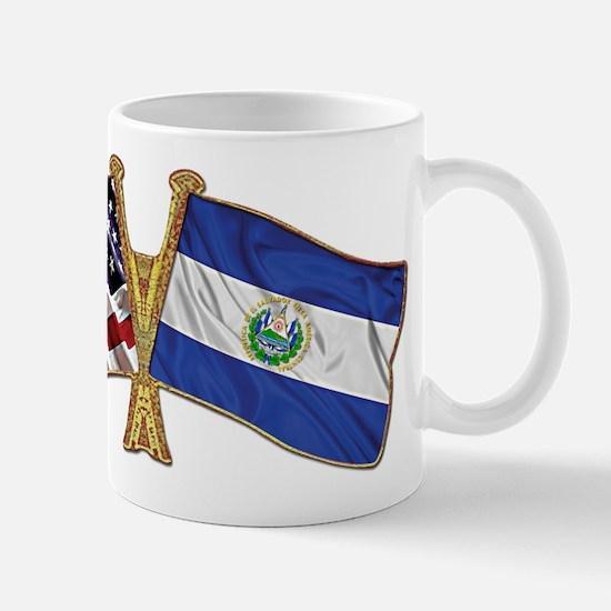 El-Salvador America Friend ship flag. Mug
