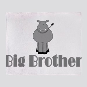 Big Brother Cute Hippo Throw Blanket