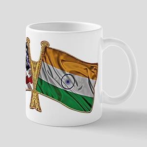 India Usa Friend ship falgs Mug