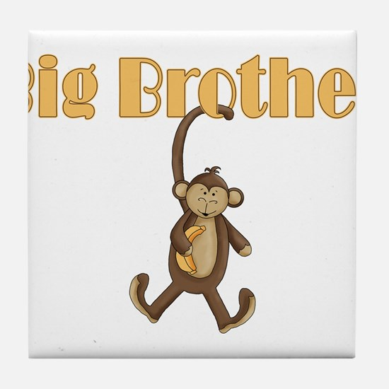 Big Brother Cute Monkey Tile Coaster