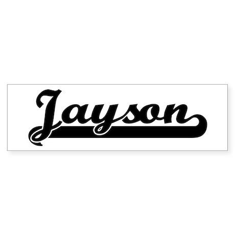 Black jersey: Jayson Bumper Sticker