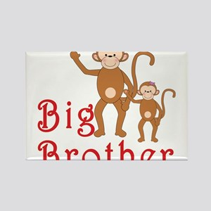 Big Brother Cute Monkeys 2 Rectangle Magnet