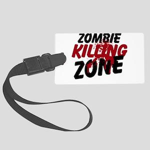 Zombie Killing Zone Large Luggage Tag