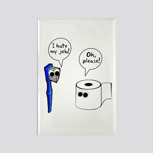 Tooth Toilet Paper Worse Job Rectangle Magnet